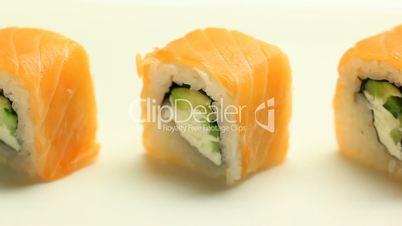 Taking japaneese sushi