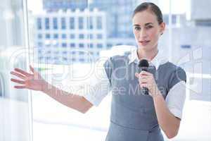 Businesswomen speaking