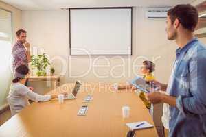 Creative business team making a presentation