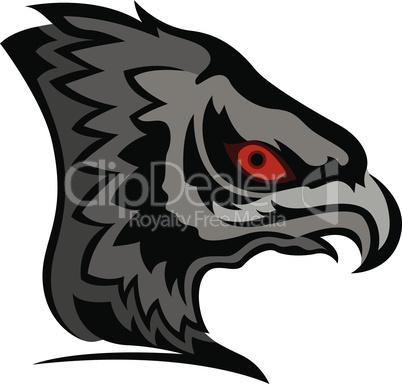 Head of cartoon eagle