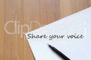Share your voice concept