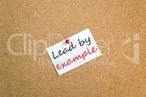 Lead by example sticky note concept