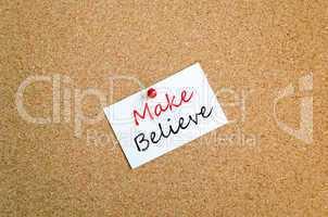 Make believe sticky note concept