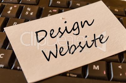 Design Website concept on keyboard