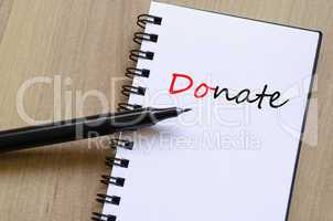 Donate Concept Notepad