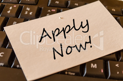 Apply Now Concept on Keyboard