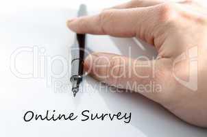 Online Survey concept