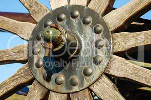 Rusty metal bolt and nut