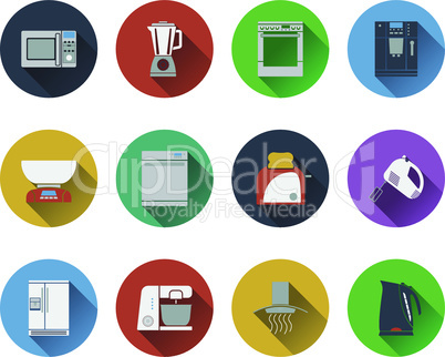 Set of kitchen equipment icons