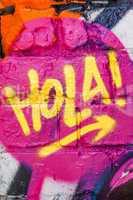 graffiti word Hola