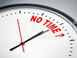 no time ?