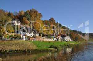 Elbe und Kurort Rathen