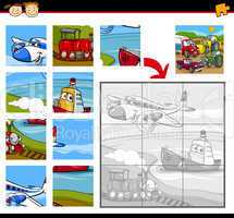 transportation jigsaw puzzle game