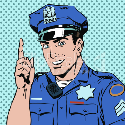 police officer warns draws attention profession smile law and order