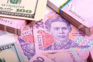 ukrainian money hryvnia financial background