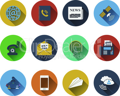 Set of communication icons