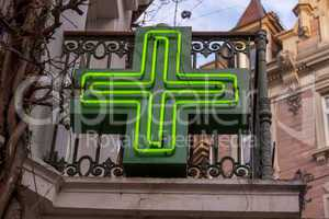 Pharmacy sign in Baden-baden, Germany