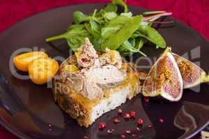 Gourmet French foie gras open sandwich