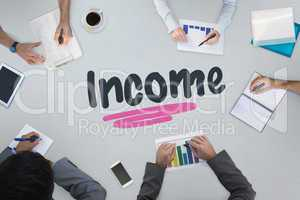 Income against business meeting