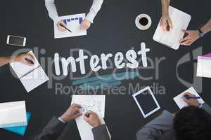 Interest against blackboard