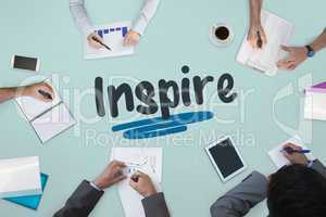 Inspire against business meeting