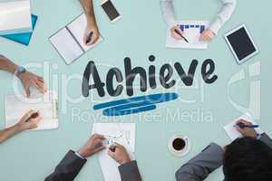 Achieve against business meeting