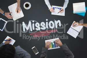 Mission against blackboard