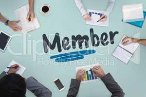 Member against business meeting