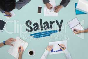 Salary against business meeting
