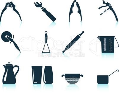 Set of utensil icons