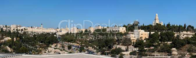 Panorama of the Old City of Jerusalem