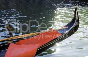 Ancient gondola in Venice