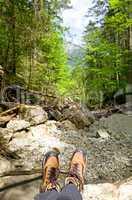 Hiking creek