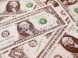 Retro look Dollar notes 1 Dollar