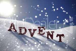 Advent Mean Christmas Time Snowflakes Sun Blue Sky
