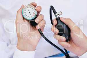 Blood Pressure Gage In a Doctor's Hands