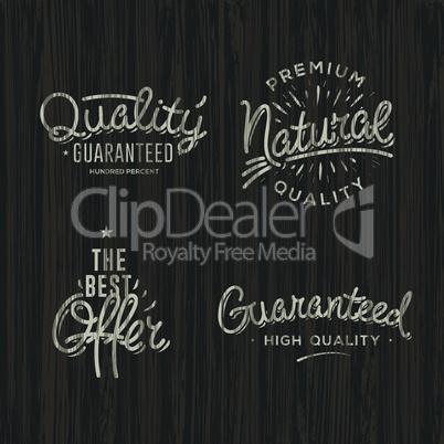 Premium quality labels, vector image.