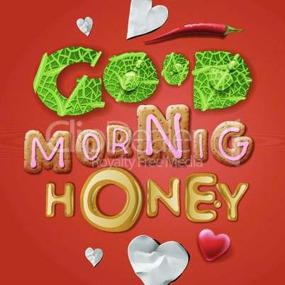 Good morning, honey, vector illustration.