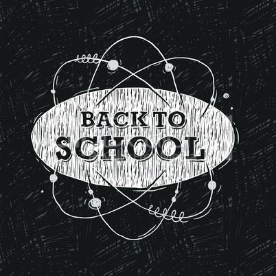Back to school, background, vector illustration.