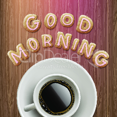Good morning background, vector illustration.