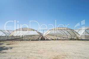 Greenhouse without plants