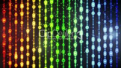 glowing colorful christmas beads loopable background
