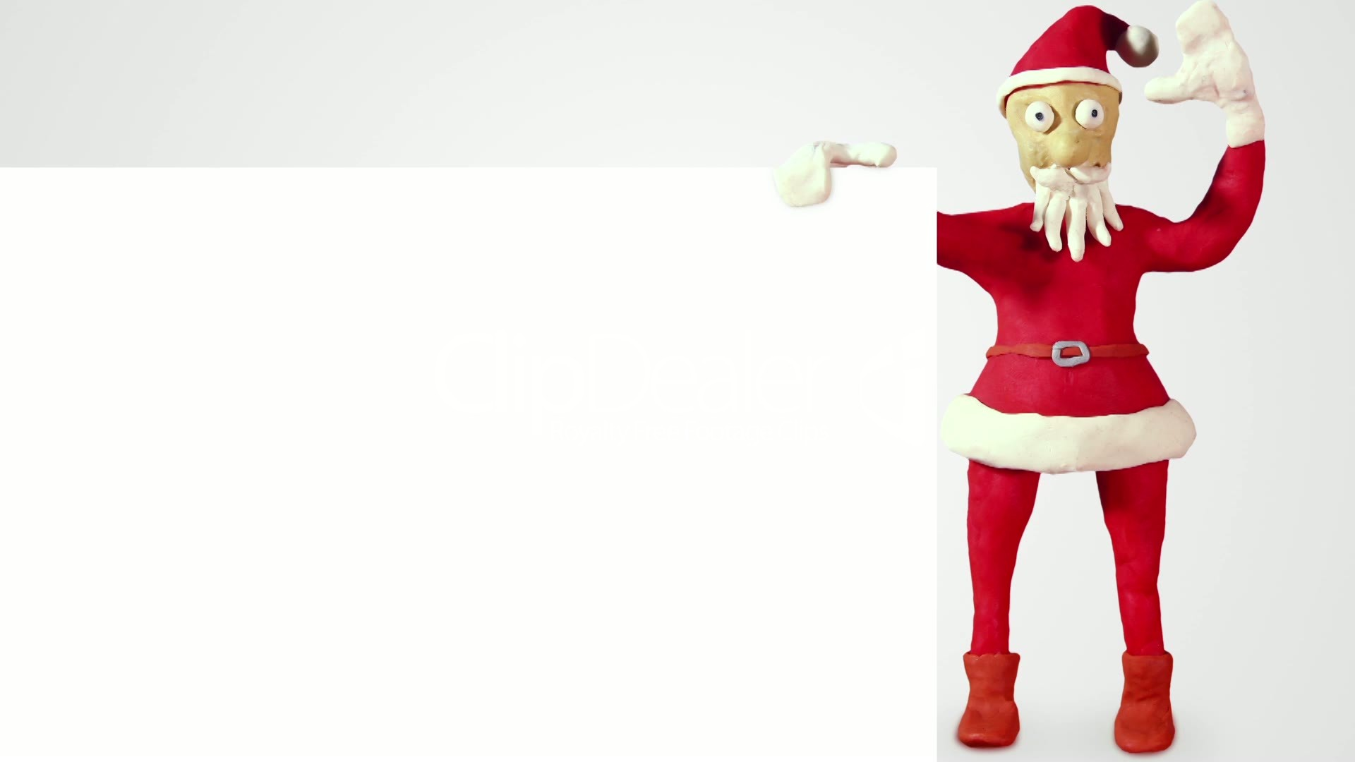 Santa claus with white blank board loopable animation royalty free greeting m4hsunfo