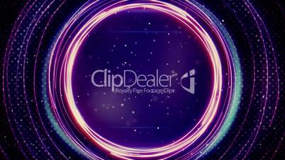 glowing purple circles abstract loopable background