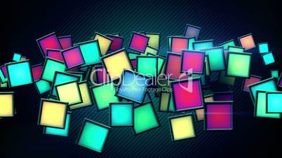 glowing colorful squars techno loop background