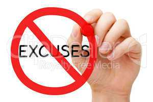 Excuses Prohibition Sign Concept