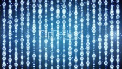 glowing blue festive beads loopable background