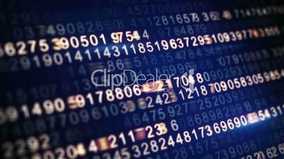 digital code on screen seamless loop