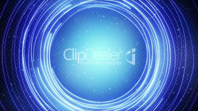 glowing blue circle lines abstract loopable background