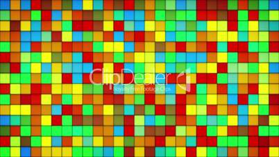 glowing colorful tiles glass mosaic loopable background
